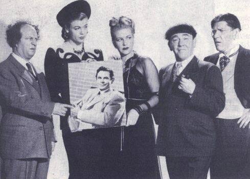Publicity still for 1948's BRIDELESS GROOM