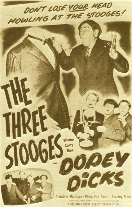 "One-sheet for 1950's ""Dopey Dicks"""