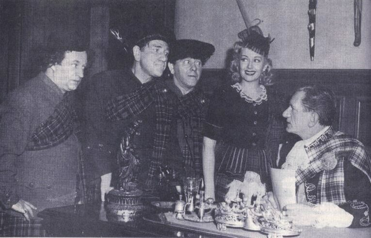 Publicity still for 1948's THE HOT SCOTS