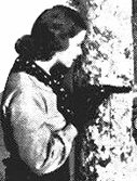 Christine in detail from publicity shot for 1938's RANGERS ROUNDUP