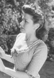 Detail of publicity shot showing Christine in 1942's RIDERS OF THE WEST