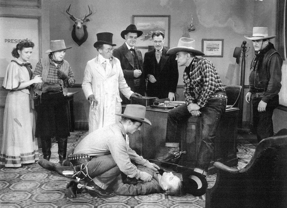 """Publicity still from Rough Riders western """"Riders of the West"""""""