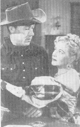 Jim Bannon and Christine in a publicity still from 1951's WANTED:  DEAD OR ALIVE